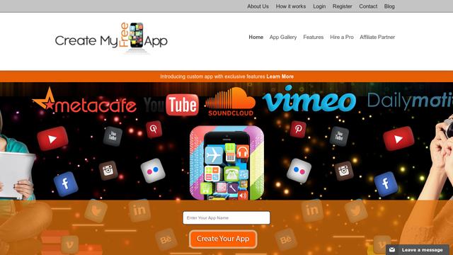 CreateMyFreeApp API koppeling