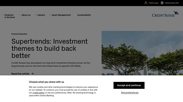 Credit-Suisse API koppeling