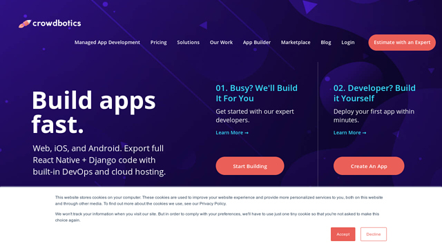Crowdbotics API koppeling