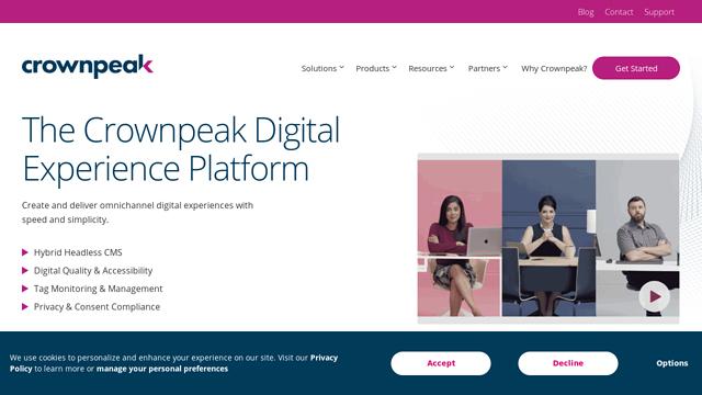 Crownpeak API koppeling