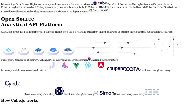 Cube.js API koppeling