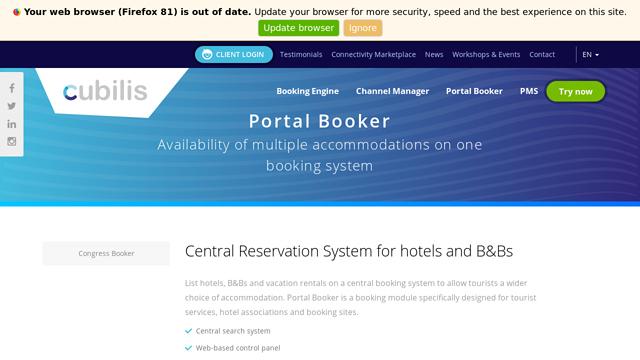 Cubilis-Portal-Booker API koppeling