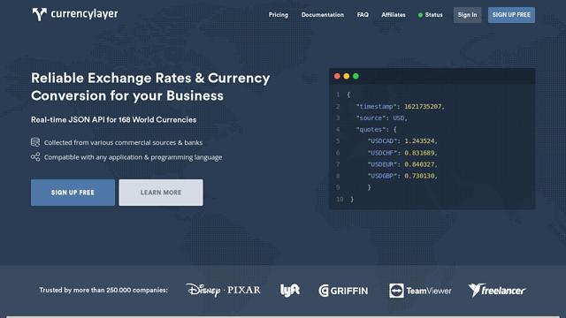 Currencylayer API koppeling
