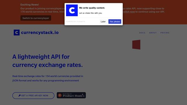 CurrencyStack.io API koppeling