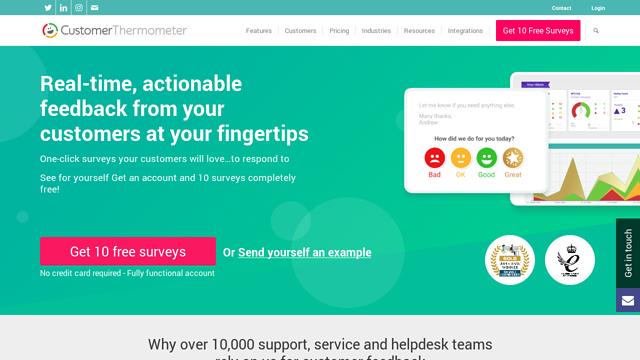 Customer-Thermometer API koppeling