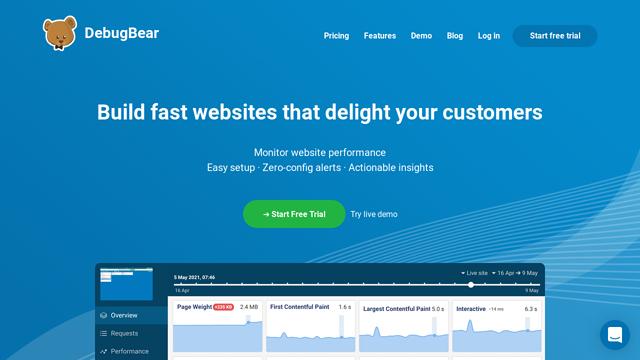 DebugBear API koppeling