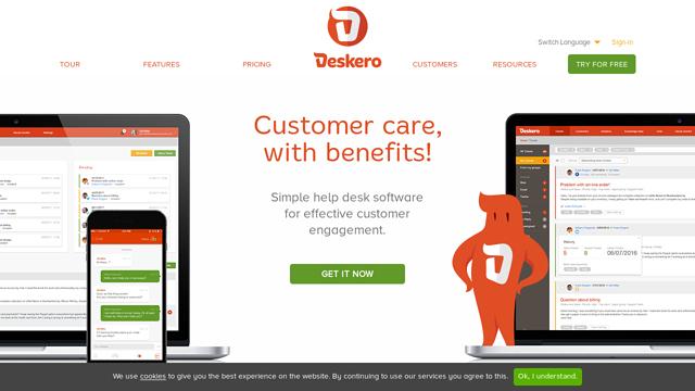 Deskero API koppeling