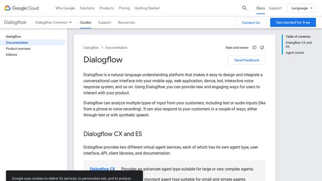 Dialogflow API koppeling