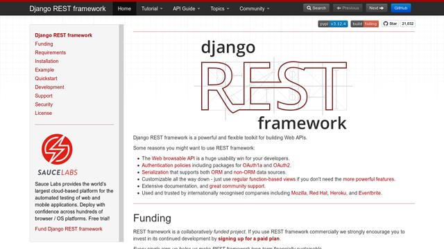 Django-REST-framework API koppeling