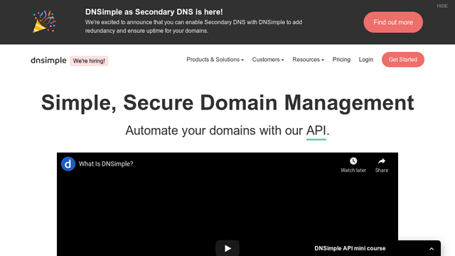 DNSimple API koppeling