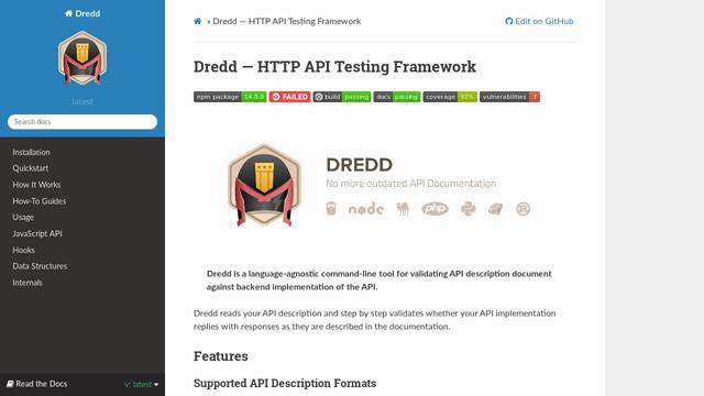 Dredd API koppeling