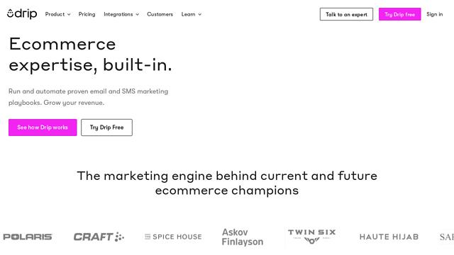 Drip API koppeling
