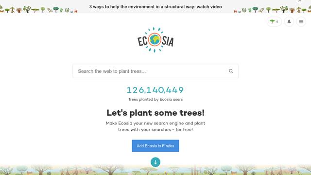 Ecosia API koppeling