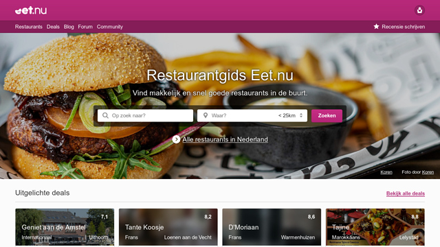 Eet.nu API koppeling