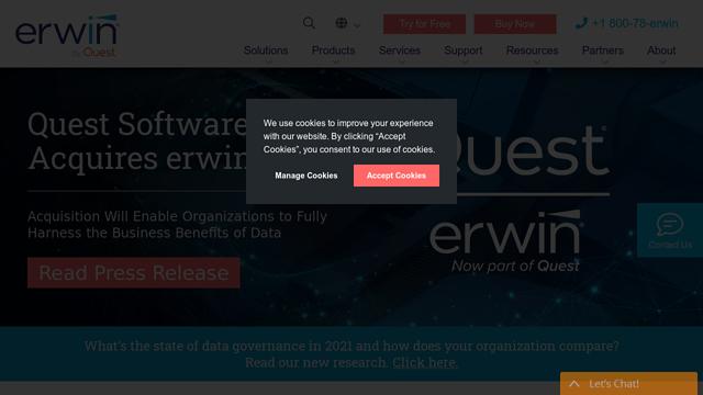 Erwin-Data-Modeler API koppeling