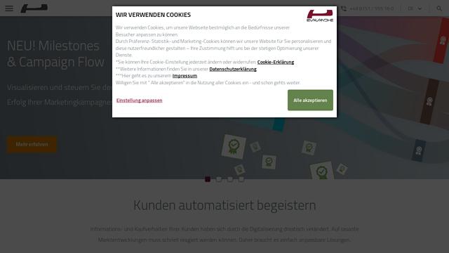 Evalanche API koppeling