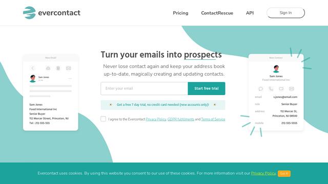 Evercontact API koppeling