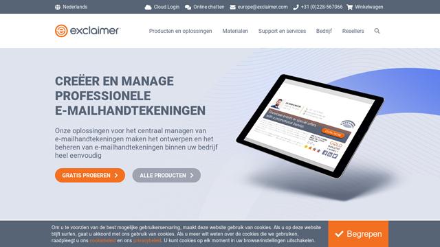 Exclaimer API koppeling