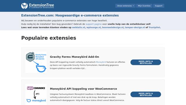 ExtensionTree API koppeling