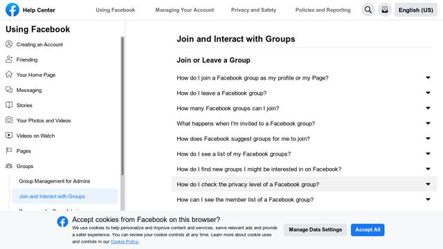 Facebook-Groups API koppeling