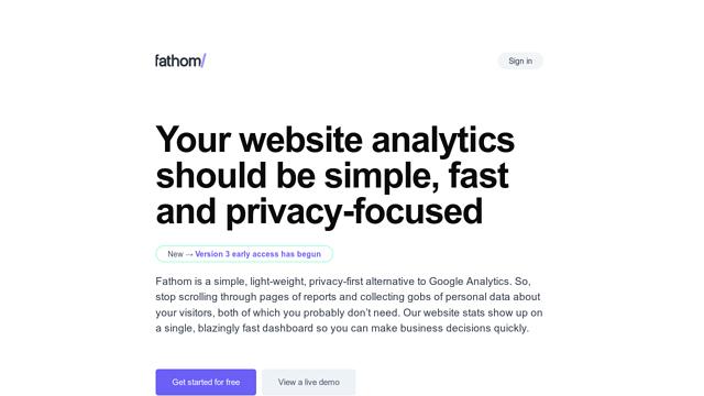 Fathom-Analytics API koppeling