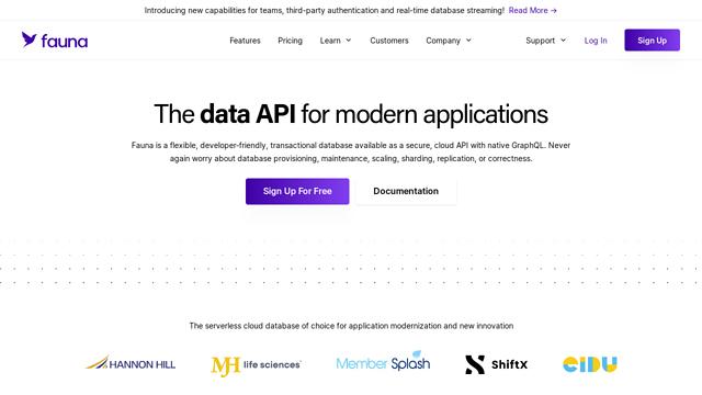 FaunaDB API koppeling
