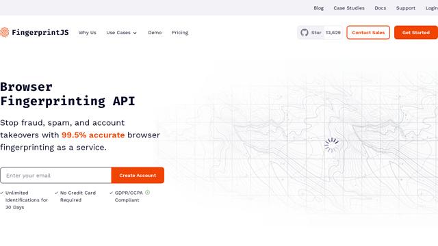 FingerprintJS API koppeling