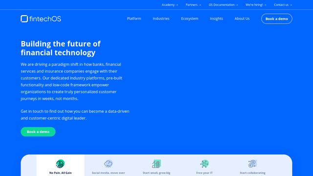 FintechOS API koppeling