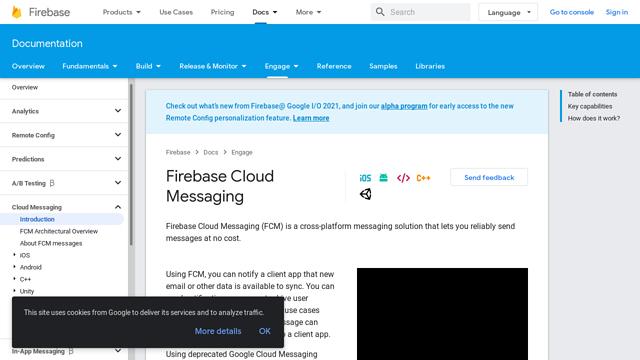 Firebase-Cloud-Messaging API koppeling