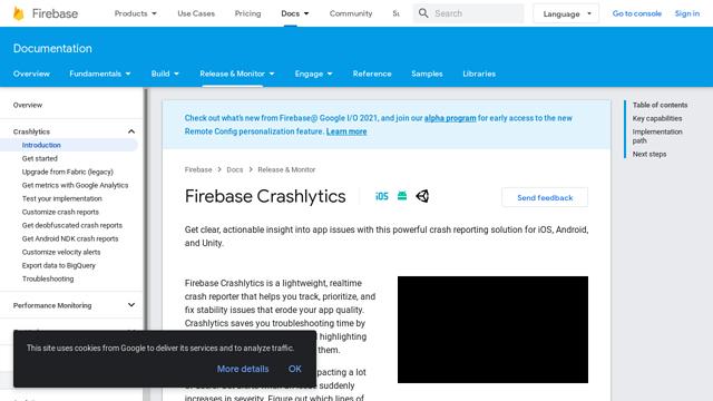 Firebase-Crashlytics API koppeling