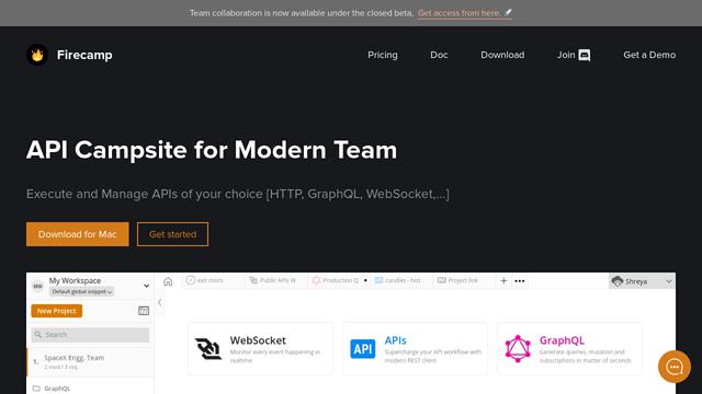 Firecamp API koppeling
