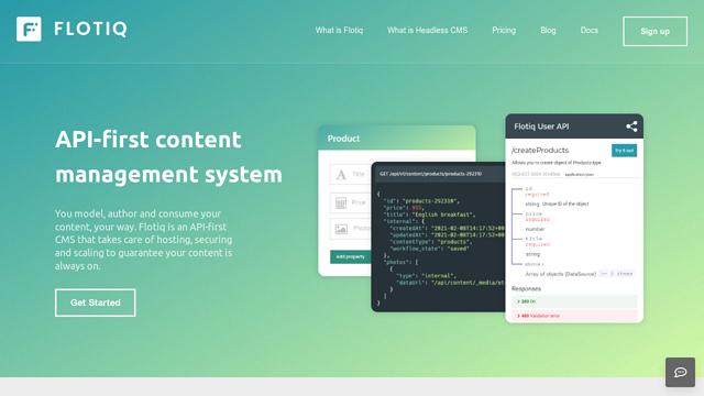 Flotiq API koppeling