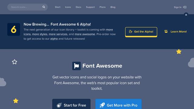 Font-Awesome API koppeling