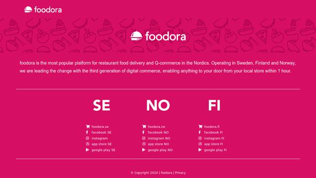 Foodora API koppeling