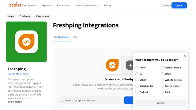 Freshping API koppeling