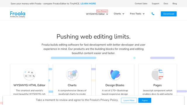 Froala API koppeling