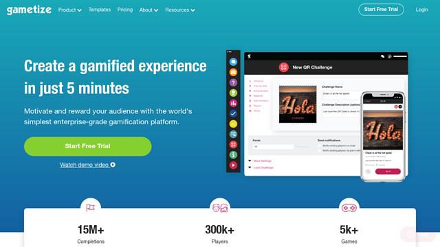 Gametize API koppeling