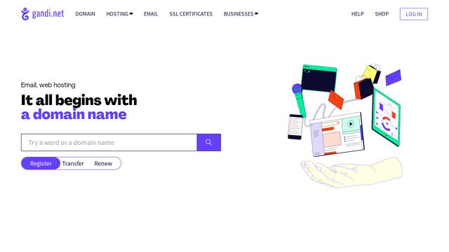 Gandi.net-US API koppeling
