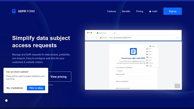 GDPR-Form API koppeling