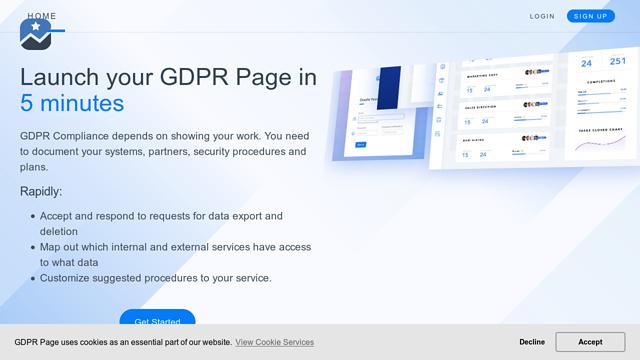 GDPR-Page API koppeling