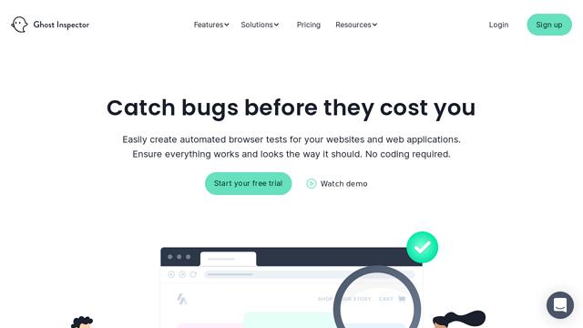 Ghost-Inspector API koppeling