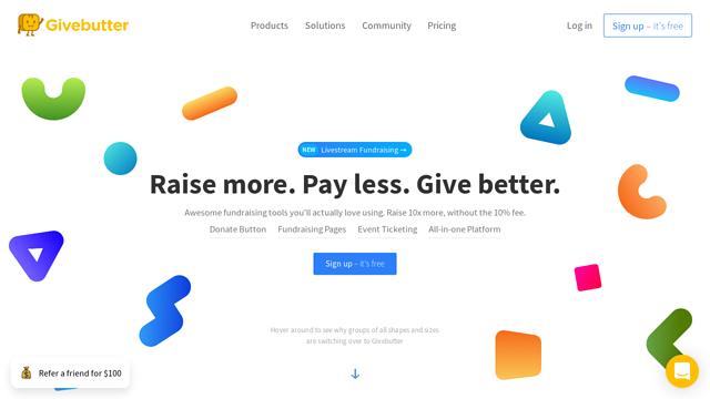 Givebutter API koppeling