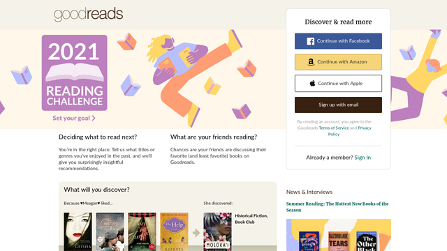 Goodreads API koppeling