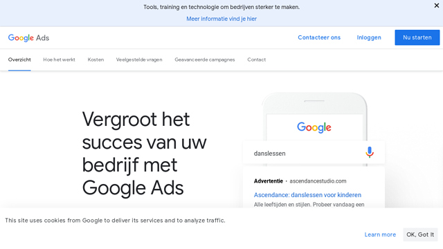 Google-Ads API koppeling
