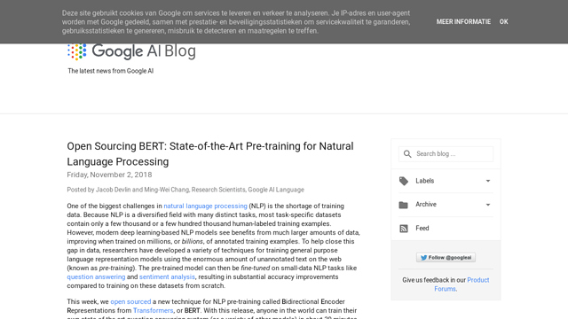 Google-BERT API koppeling