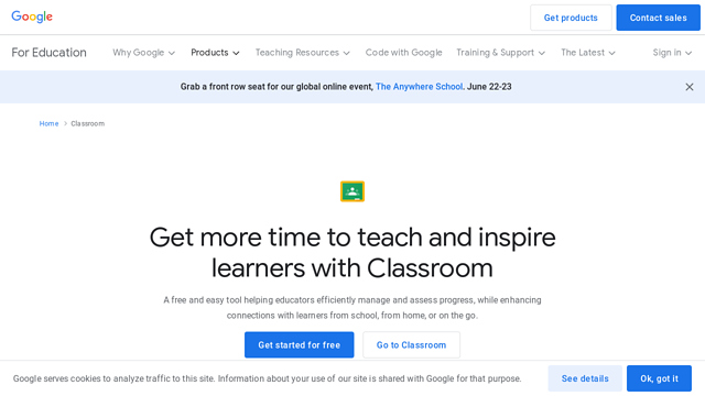 Google-Classroom API koppeling
