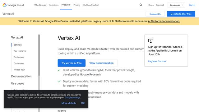 Google-Cloud-AI-Platform API koppeling