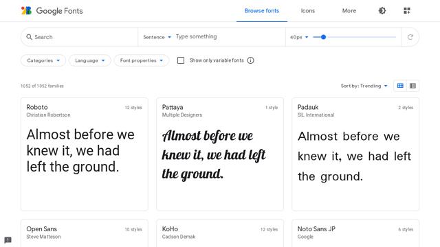 Google-Fonts API koppeling