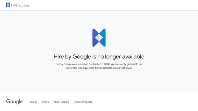 Google-Hire API koppeling