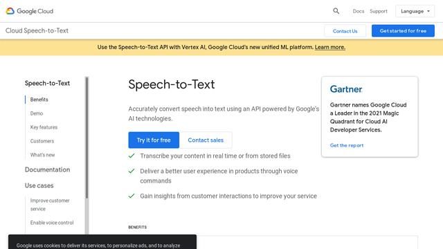 Google-Speech API koppeling